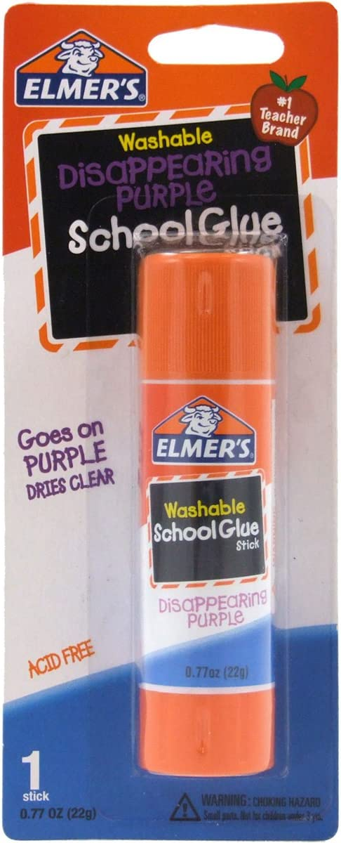 Elmer's Disappearing Purple School Gorgeous Glue 0.77 Single Stick OFFicial shop oz S
