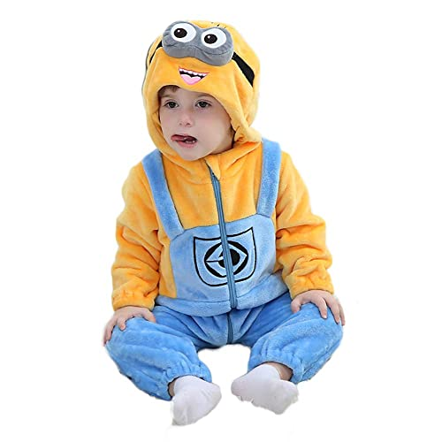 3f3c5cde5 Unisex Baby Flannel Romper Animal Onesie Costume Hooded Cartoon Outfit Suit