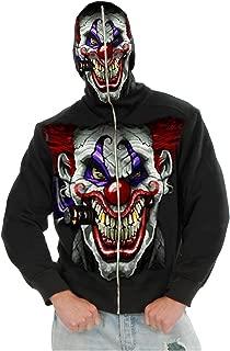 Mens Hi Ya Roy Evil Clown Skull Hoodie
