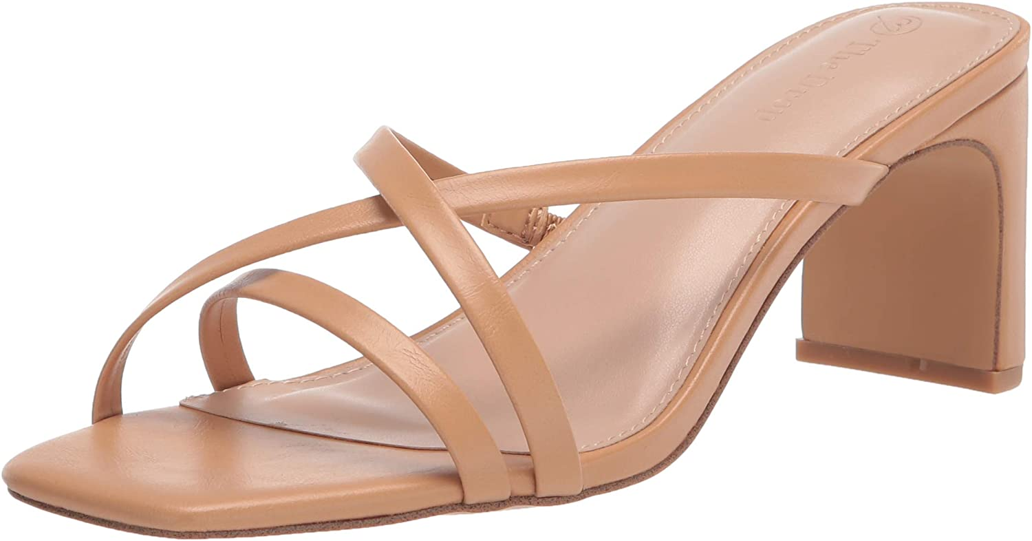 The Drop Women's Amelie Strappy Square Toe Heeled Sandal
