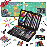 KIDDYCOLOR 109-Piece Deluxe Art Set for Kids, Painting & Drawing Art Supplies in a Plastic Case, Great Gift for Kids Christmas Gift