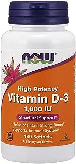 Now Foods Vitamin D-3 1000 IU Softgels, 180ct