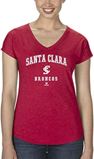 GAME Santa Clara University SCU Broncos Women's Tri-Blend V-Neck - Heathered Red