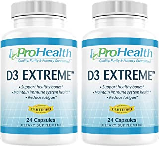 ProHealth 2-Pack Vitamin D3 Extreme (50,000 IU, 24 Capsules Each) Helps Boost and Support Healthy Bones and The Immune System | Gluten Free | Soy Free