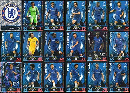Match Attax 2018//19 Chelsea complet carte 18 Team Set Free POST ** 2 extra gratuit **