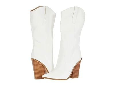 Steve Madden Renzo Western Boot (White) Women