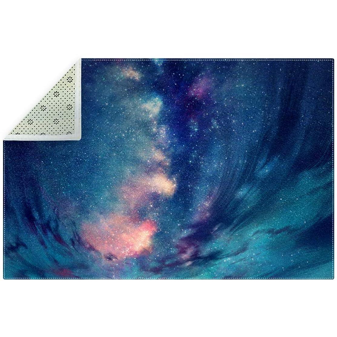 オークションどこでも不機嫌AyuStyle ラグ カーペット 200×150cm 星空 夜空 宇宙 ラグマット ホットカーペット フロアマット 個性的 オシャレ 長方形 滑り止め付き