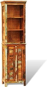 vidaXL Bücherregal CD Regal Standregal Aktenregal Vintage Antik recyceltes Holz