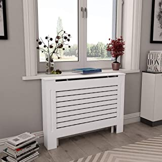 Canditree White Radiator Cover, Heating Cover Cabinet MDF 44