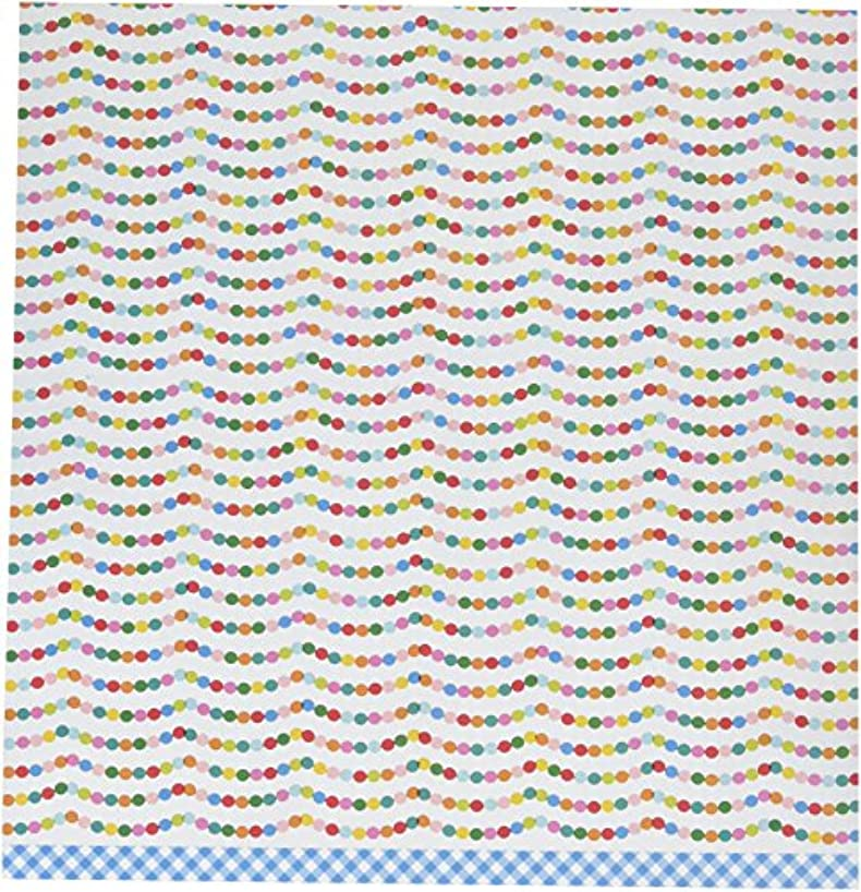 American Crafts 25 Pack 12 x 12 Inch Paper Party Time Pebbles Happy Hooray, Piece