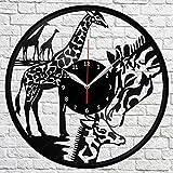 キリンビニールレコードウォールクロックアートデコレーションオリジナルギフト