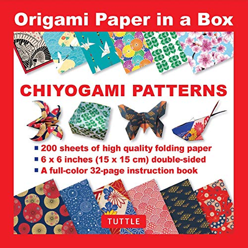 Origami Paper in a Box - Chiyogami Patterns: 200 Sheets of Tuttle Origami Paper