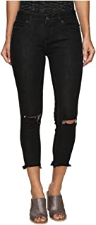 Free People Womens Jeans Skinny Destroyed in Carbon