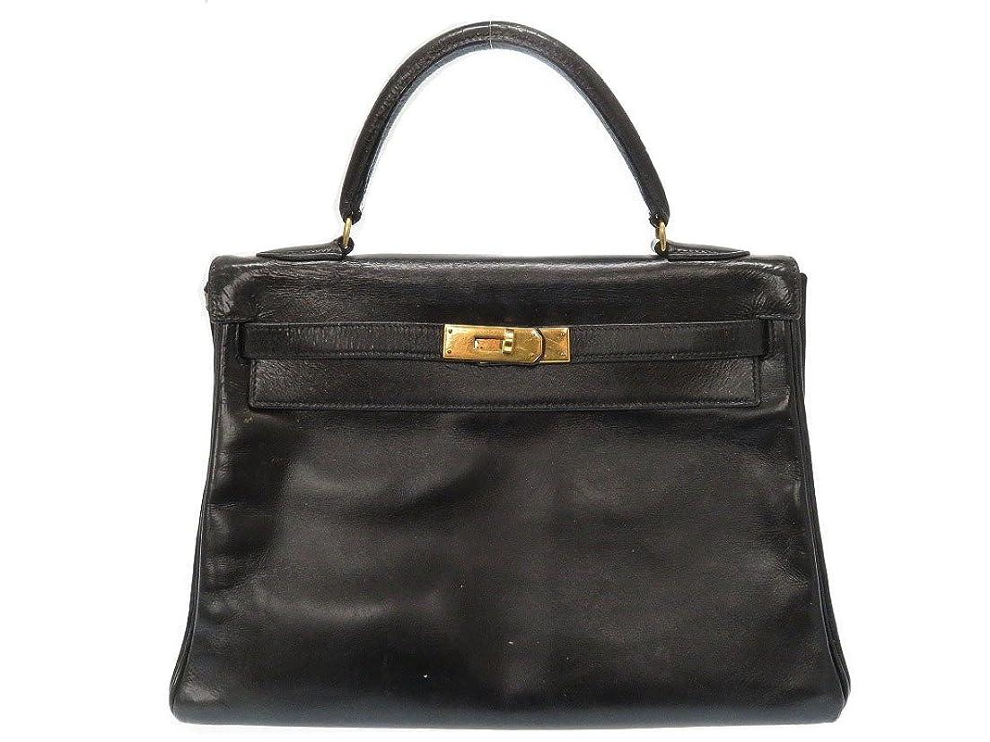 軍柔和ワーカー(エルメス) HERMES ケリー32 内縫い ハンドバッグ ボックスカーフ レディース 0001 中古
