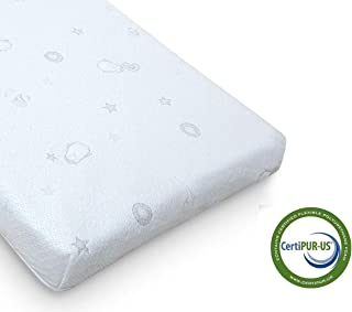 QUEEN ROSE Crib Mattress and Toddler Bed Mattress,Dual Firm Side System for Infant, Plush Soft Side for Toddler,Breathable Bamboo Cover for Standard Crib