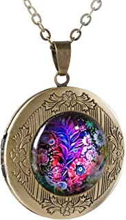 POWER WING Vintage Locket Necklace That Holds Pictures for Women Girls Mens Photo Lockets Necklaces