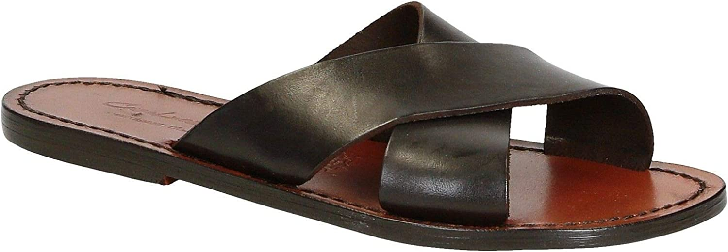 GIANLUCA - L'ARTIGIANO DEL CUOIO Women's 2004BROWN Brown Leather Sandals