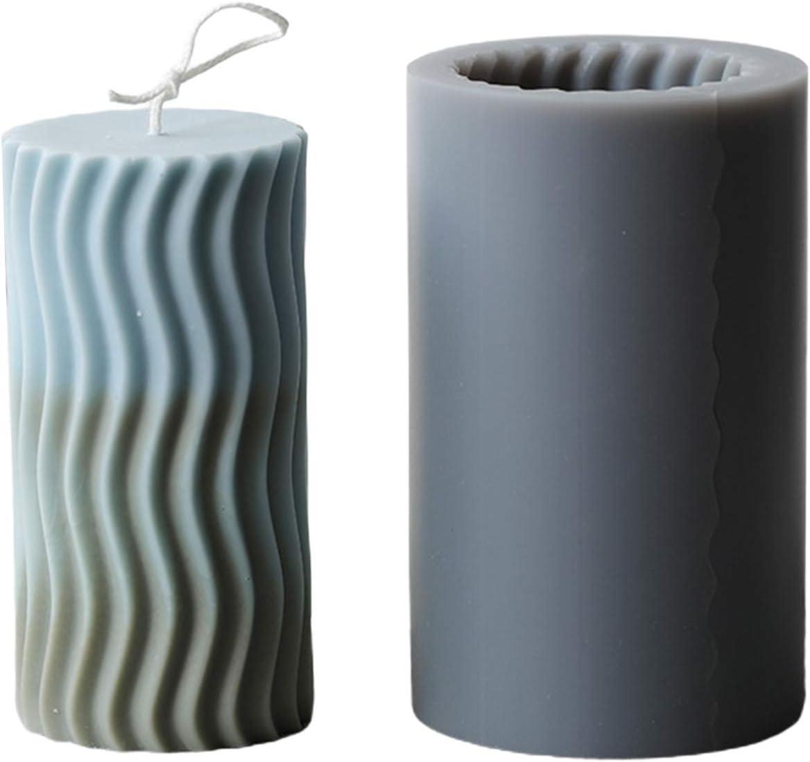 ideale per realizzare candele saponette Boji Stampo in silicone per candele saponi e dolci stampi da forno a forma di cilindro
