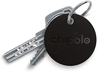 Chipolo Classic Bluetooth Key Finder and Phone Finder, 92dB Alarm Sound, 200ft Work Range, Replaceable Battery Smart Key Tracker Locator - Black