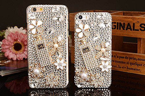 iPhone 6 Plus/6s Plus Funda, iNenk Bolsa Llena Diamante Dura PC Case teléfono Cubierta Caso Diamante Perla teléfono móvil Manga Protectora diseño Moda Linda para Las Mujeres-Perfume