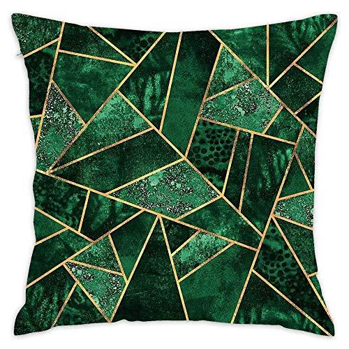 N / A Decorative Cotton Cushion Cases Farmhouse Sofa Home Decor Inch - Deep Emerald