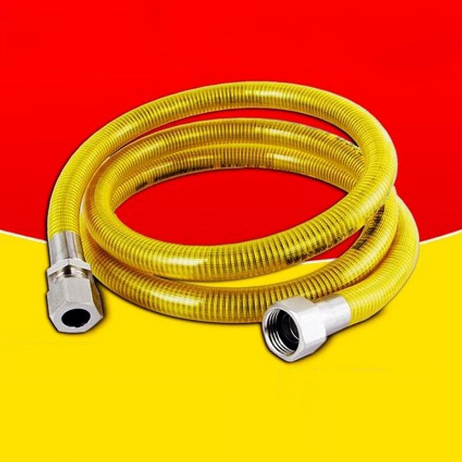 Hose Liuyu·home life 304 Stainless Steel Gas Pipe Natural Gas Pipe Gas Stove Water Heater Metal Corrugated 2.5m (color   Jack+jack)