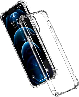UGREEN Clear Case Compatible For iPhone 12 Pro Max Transparent Cover TPU Protective with 4 Corners Bumper Shockproof Prote...