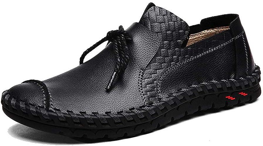 LXYIUN Chaussures de Sport pour Hommes,Vaste Mode Chaussures de Pois Flaneurs Chaussures d'affaires,noir,40