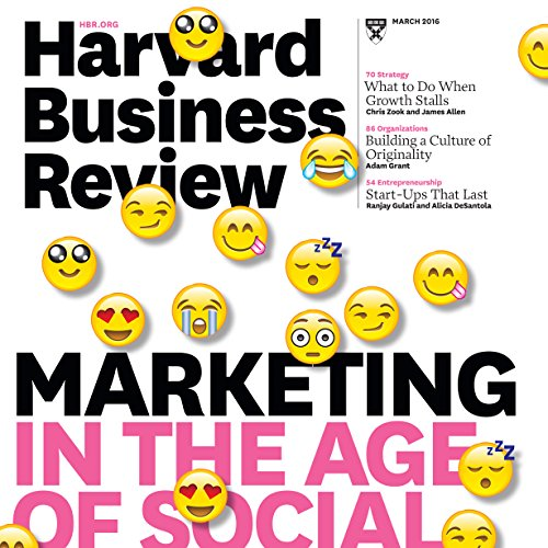 Harvard Business Review, March 2016 audiobook cover art
