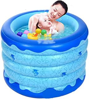 SHYPT Plastic Folding Bath Bucket,Adult Simple Children's Inflatable Portable Bathtub Soaking Home SPA Bath
