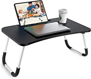 Arabest Lap desk -Foldable table Lap Standing Desk with Cup holder and book holder Fits Up to 15.6 Inch Laptops for Sofa, ...