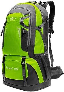 OcioDual Mochila Verde Claro 60 litros 60L Impermeable con Cierres Asas y Correas de Seguridad Senderismo Trekking Camping