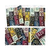 Loft Rétro 3d Pvc Papier Peint Caractéristique Plaque D'immatriculation De Voiture Tôle Rétro Toile De Fond Vinyle Papier Peint Pour Bar Restaurant KTV Fond