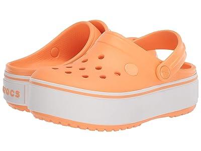 Crocs Kids Crocbandtm Platform Clog (Little Kid/Big Kid) (Cantaloupe) Girl