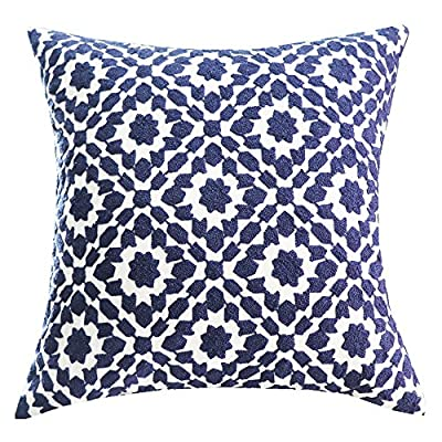 Embroidered Chain Design Pattern Pillow Cover