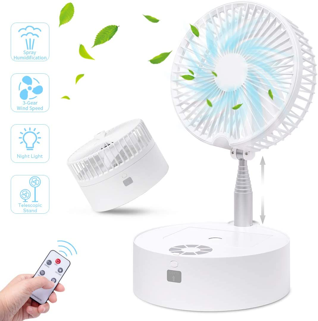 Portable Fan Oscillating Max 61% High material OFF Aircover Small Up Standing Floor F
