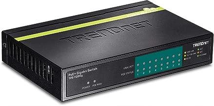 TRENDnet 8-Port Gigabit PoE+ Switch, TPE-TG80G, 8 x Gigabit PoE+ Ports, 123 W PoE Power Budget, 16 Gbps Switching Capacity, Desktop Switch, Ethernet Network Switch, Metal, Lifetime Protection