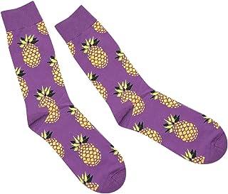 #N/A, /a Calcetines Altos de Tobillo de Becerro para Mujer Suaves Lindos de Moda Calcetines Medios de Algodón de Piña