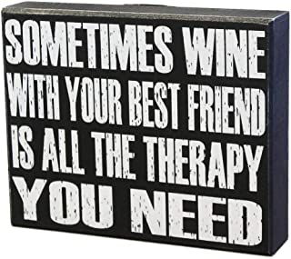 JennyGems - Sometimes Wine With Your Best Friend Is All The Therapy You Need - Bestie Friendship Gift Sign - Best Friends Birthday - Wine Quotes - Friendship Sign - Wine Gifts - Wine Enthusiast