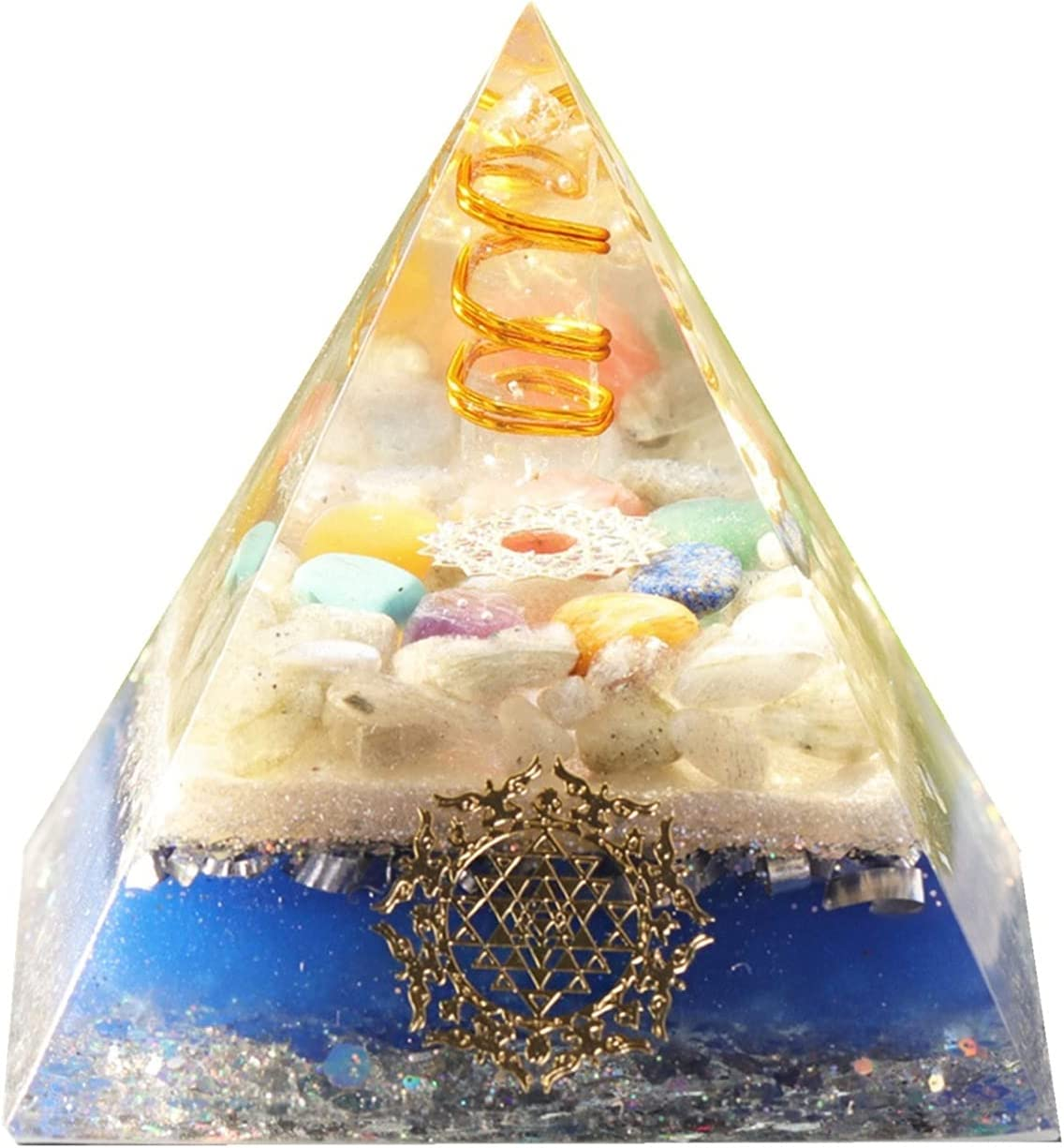 Las Vegas Mall AJULING 7 Chakra Max 85% OFF Crystal Stones Or Energy Orgone Pyramid Healing