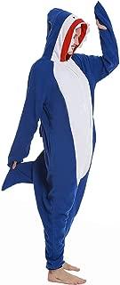 Mybei Shark Onesie Pajamas,Adult Animal Cosplay Costumes for Women Men
