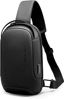 Muzee MARK RYDEN Zaino Monospalla,Borsa a tracolla con tracolla grande impermeabile con zainetto casual leggero USB per ip...