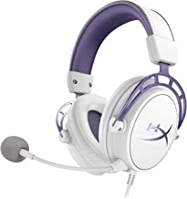 HyperX Cloud Alpha Gaming Headset - White/Purple - Limited Edition for PC, PS4 & Xbox One, Nintendo Switch