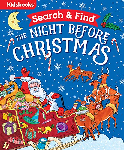 Search & Find: The Night Before Christmas-Join Elves Jingle and Belle in this Special Edition of the Classic Poem by Clement C. Moore, Featuring Fun Search & Find Scenes Throughout!