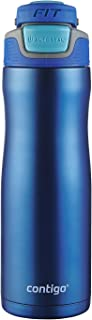 Contigo AUTOSEAL Fit Trainer Stainless Steel Water Bottle, 20 oz, Dazzling Blue