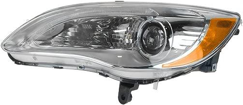 Headlight Headlamp Halogen Chrome Bezel Driver Side Left for 11-14 Chrysler 200