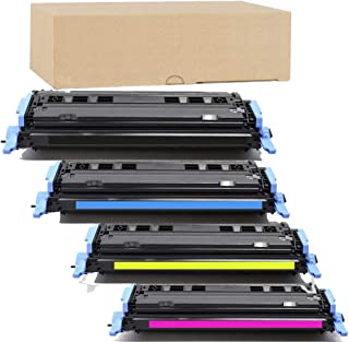 ADE Products Premium Compatible Toner Replacement for HP 124A Toner Set, (Black, Cyan, Yellow, Magenta) for HP Color Laserjet 1600 2600 2605 2605dtn 2605dn 2600n CM1015 MFP CM1017 MFP Series Printers