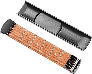 ポケットギター ポケットストリングス 6フレット ポータブルギター 練習用ガジェットツール 練習用 初心者向け 持ち運び便利 コード練習に最適