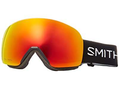 Smith Optics Skyline Goggle (Black/Chromapop Everyday Red Mirror) Snow Goggles