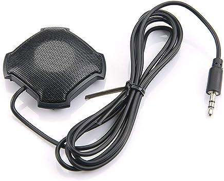 LoveOlvidoIT Microfono Pickup omnidirezionale con Microfono per conferenza a condensatore Jack Audio da 3,5 mm per Skype VOIP Call Voice Chat - Trova i prezzi più bassi